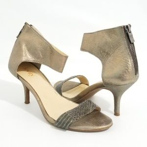 Levity Ginny Pewter Metallic Sandal